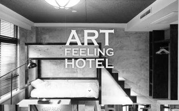 「デザイナーズホテル」×「サテンストライプの寝具」で感性が研ぎ澄まされる空間に